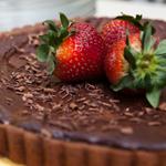 Dark Chocolate Covered Strawberry Tart